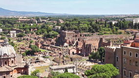Ρωμαϊκό φόρουμ της Ρώμης απόθεμα βίντεο