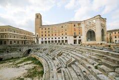 Ρωμαϊκό Amphiteatre (2$ος αιώνας) σε Lecce, Apulia, Ιταλία Στοκ Εικόνες