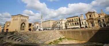 Ρωμαϊκό Amphiteatre (2$ος αιώνας) σε Lecce, Apulia, Ιταλία Στοκ φωτογραφίες με δικαίωμα ελεύθερης χρήσης
