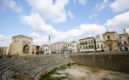 Ρωμαϊκό Amphiteatre σε Lecce, Πούλια Στοκ Φωτογραφία