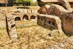Ρωμαϊκό columbarium νεκρόπολη σε Ostia Antica - τη Ρώμη Στοκ φωτογραφία με δικαίωμα ελεύθερης χρήσης