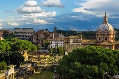 ρωμαϊκό romano φόρουμ foro colosseum Στοκ Εικόνες