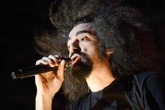 ΡΩΜΗ - 16 Ιουλίου 2018: Η συναυλία ` Caparezza ` στο βράχο ` σε Roma† σε Capannelle στοκ εικόνες