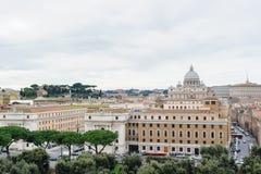 ΡΩΜΗ, ΙΤΑΛΙΑ - 27 ΙΑΝΟΥΑΡΊΟΥ 2010: άποψη της Ρώμης Στοκ Εικόνες