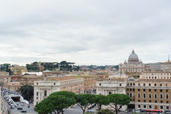 ΡΩΜΗ, ΙΤΑΛΙΑ - 27 ΙΑΝΟΥΑΡΊΟΥ 2010: άποψη της Ρώμης Στοκ Φωτογραφία