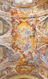 ΡΩΜΗ, ΙΤΑΛΙΑ - 12 ΜΑΡΤΊΟΥ 2016: Δόξα του ονόματος της νωπογραφίας της Mary από το Filippo Gherardi στην εκκλησία Chiesa Di SAN Pa Στοκ εικόνα με δικαίωμα ελεύθερης χρήσης