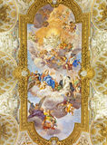 ΡΩΜΗ, ΙΤΑΛΙΑ: Νωπογραφία της αποθέωση του ST Catherine στην εκκλησία Chiesa Di Santa Caterina DA Σιένα ένα Magnapoli από το Luigi Στοκ Εικόνες