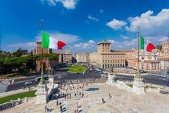 ΡΩΜΗ, ΙΤΑΛΙΑ - 13 Σεπτεμβρίου 2016: Άποψη σχετικά με την πλατεία Venezia στη Ρώμη Στοκ Φωτογραφία