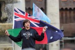 Νέα πορτογαλική πιστή αναμονή για τον παπά Francis Ι Στοκ φωτογραφία με δικαίωμα ελεύθερης χρήσης