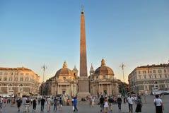 Piazza del Popolo στη Ρώμη Στοκ Φωτογραφίες