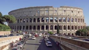 ΡΩΜΗ, ΙΤΑΛΙΑ - το Μάιο του 2018 CIRCA: Πανόραμα Colosseum στη Ρώμη, Ιταλία Αρχαίο αμφιθέατρο Coliseum φιλμ μικρού μήκους