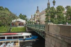 Ρωσία, Άγιος-Πετρούπολη, Ρωσία, ναός Στοκ Φωτογραφίες