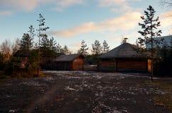 Ρωσία Έδαφος του βρεφικού σταθμού ` Talvi Ukko ` σκυλιών 14 Νοεμβρίου 2017 Στοκ Φωτογραφία