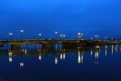 Ρωσία, Αγία Πετρούπολη, Annunciation γέφυρα Στοκ φωτογραφία με δικαίωμα ελεύθερης χρήσης