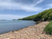 Ρωσία, Βλαδιβοστόκ, ένας από τους κόλπους στο νησί Shkot στοκ εικόνες