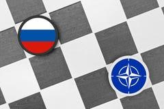 Ρωσία εναντίον του ΝΑΤΟ Στοκ φωτογραφία με δικαίωμα ελεύθερης χρήσης