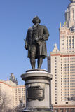 Ρωσία Κρατικό πανεπιστήμιο της Μόσχας Μνημείο Lomonosov Στοκ εικόνες με δικαίωμα ελεύθερης χρήσης