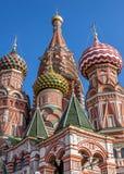 Ρωσία, Μόσχα, κόκκινη πλατεία, ο καθεδρικός ναός Vasily ευλογημένη Στοκ Εικόνες