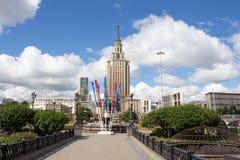Ρωσία, Μόσχα, ξενοδοχείο Leningradskaya στην πλατεία Komsomolskaya Στοκ Φωτογραφία