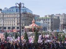Ρωσία, Μόσχα, πλατεία Manezhnaya Η γιορτή ιερού Πάσχας στοκ εικόνες