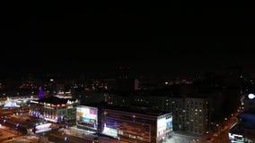 Ρωσία: Οδός Popova τη νύχτα απόθεμα βίντεο