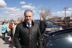 Ρωσία, πόλη Magnitogorsk, - 25 Απριλίου, 2015 Σταθμός Magnitogorsk Valery Gergiev - κύριος αγωγός του Μόναχου φιλαρμονικού στοκ φωτογραφίες με δικαίωμα ελεύθερης χρήσης