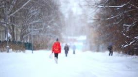 Ρωσία Σιβηρία 12 Δεκεμβρίου 2014 Χειμερινή πόλη απόθεμα βίντεο