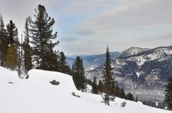 Ρωσία, Σιβηρία, τα βουνά Khakasia το χειμώνα στοκ εικόνες