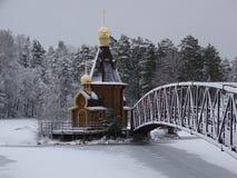 Ρωσία Το ταξίδι στη Ρωσία Καρελία Χειμώνας Στοκ Φωτογραφία