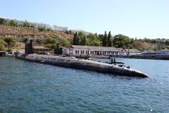 Ρωσία Υποβρύχιο στην αποβάθρα της Μαύρης Θάλασσας στοκ εικόνα με δικαίωμα ελεύθερης χρήσης