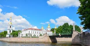 Ρωσία, φυσική άποψη θερινού χρόνου της Αγία Πετρούπολης στοκ εικόνα