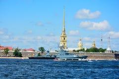 Ρωσία, φυσική άποψη θερινού χρόνου της Αγία Πετρούπολης στοκ φωτογραφία
