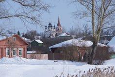 Ρωσία Χειμερινό πρωί του Σούζνταλ Στοκ Εικόνες