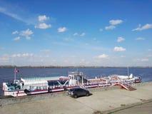 Ρωσία, Nizhny Novgorod - το Μάιο του 2018: Άποψη ποταμών του Βόλγα στοκ εικόνες