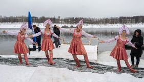 Ρωσία, Uglich, στις 7 Φεβρουαρίου Το φεστιβάλ Στοκ Φωτογραφίες