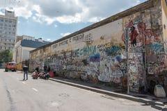 ΡΩΣΙΑ, ΜΟΣΧΑ, ΣΤΙΣ 7 ΙΟΥΝΊΟΥ 2017: Τοίχος της μνήμης του μουσικού Victor Tsoi στη Μόσχα σε Arbat Στοκ φωτογραφία με δικαίωμα ελεύθερης χρήσης
