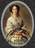ΡΩΣΙΑ - 2011: παρουσιάζει αυτοκράτειρα Μαρία Alexandrovna 1824-1880, πορτρέτο από το Franz Xaver Winterhalter Στοκ Φωτογραφίες