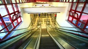 ΡΩΣΙΑ, στις 8 Αυγούστου 2014, κυλιόμενη σκάλα μετρό της Μόσχας με απόθεμα βίντεο