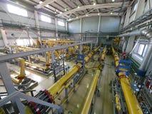 ΡΩΣΙΑ, NADYM - 8 ΙΟΥΝΊΟΥ 2011: Εξοπλισμός της εταιρίας GAZPROM ι Στοκ Εικόνα