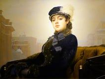 Ρωσικά έργα ζωγραφικής του Ivan Nikolayevich Kramskoy ` s ζωγράφων, άγνωστο κορίτσι ` ` Στοκ εικόνα με δικαίωμα ελεύθερης χρήσης