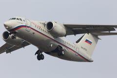 Ρωσικά αεροσκάφη αερογραμμών ένας-148-100B Στοκ εικόνα με δικαίωμα ελεύθερης χρήσης