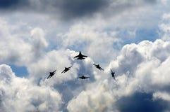 Ρωσικά αεροσκάφη μαχητών Sukhoi SU-27 Στοκ εικόνα με δικαίωμα ελεύθερης χρήσης