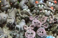 Ρωσικά αναμνηστικά αργίλου Στοκ Εικόνες
