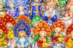 Ρωσικά αναμνηστικά που ονομάζονται την κούκλα matryoshka Στοκ φωτογραφία με δικαίωμα ελεύθερης χρήσης