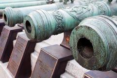 Ρωσικά αρειανά πυροβόλα όπλα 17-18 αιώνες. Κρεμλίνο, Ρωσία Στοκ Εικόνα