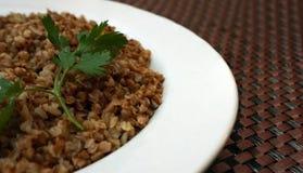 Ρωσικά δημητριακά τροφίμων με τα χορτάρια στοκ εικόνα με δικαίωμα ελεύθερης χρήσης