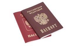 Ρωσικά διαβατήρια Στοκ Φωτογραφία