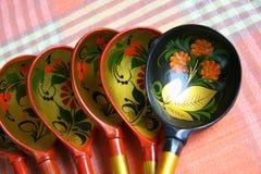ρωσικά κουτάλια Στοκ Εικόνες