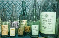 Ρωσικά μπουκάλια βότκας Στοκ εικόνα με δικαίωμα ελεύθερης χρήσης