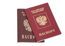 Ρωσικά ξένα διαβατήρια Στοκ φωτογραφίες με δικαίωμα ελεύθερης χρήσης